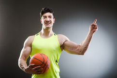 Muscular basketball in sports concept Stock Photo