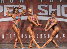 Muscular Beauty Wins Toronto Women`s Physique Contest Stock Photo