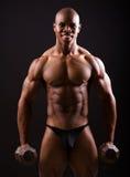 Muscular black man Stock Photos