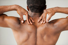 Muscular black man. Stock Images