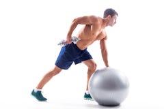 Muscular bodybuilder guy Royalty Free Stock Photography