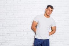 Muscular bodybuilder guy Stock Photography