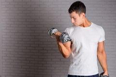 Muscular bodybuilder guy Royalty Free Stock Photo