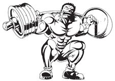 Free Muscular Bodybuilder In Training Royalty Free Stock Images - 44869309