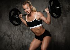 Muscular bodybuilder woman Royalty Free Stock Photos
