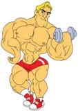 Muscular bodybuilder workout Stock Photos