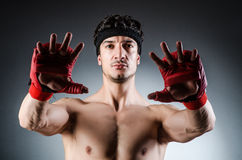 Muscular boxer wiith Royalty Free Stock Image