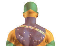 Muscular Brazil banner man Royalty Free Stock Images