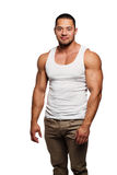 Muscular build man Royalty Free Stock Photos