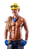 Muscular builder with tools Stock Image