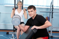 Muscular building Royalty Free Stock Photography