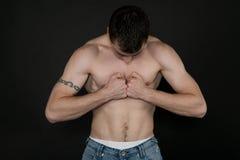 Muscular built Royalty Free Stock Photos