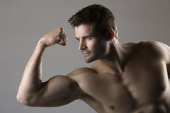 Muscular caucasian man Royalty Free Stock Images