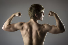 Muscular caucasian man Stock Photos
