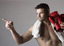 Muscular caucasian man Stock Photography