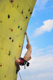 Muscular climber Stock Images
