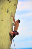 Muscular climber man Royalty Free Stock Photos