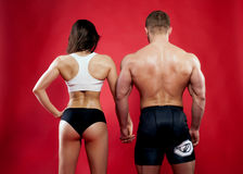 Muscular couple. Royalty Free Stock Images
