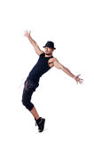 Muscular dancer isolated Stock Photography