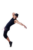 Muscular dancer isolated Royalty Free Stock Photos