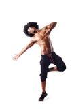 Muscular dancer  on white Stock Photos
