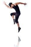 Muscular dancer  on white Stock Photo