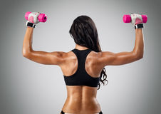 Muscular female back Royalty Free Stock Image