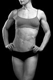 Muscular female body Stock Photos