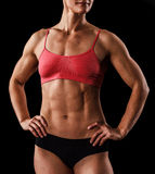 Muscular female body Royalty Free Stock Photo
