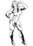 Muscular girl. 