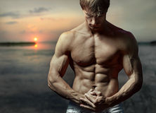 Muscular guy Stock Photos