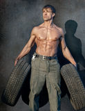 Muscular guy Stock Image