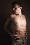 Muscular guy without a shirt Royalty Free Stock Photography