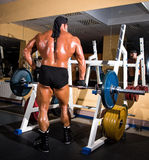 Muscular handsome bodybuilder Stock Photos