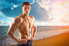 Muscular Handsome Fitness Man Stock Photo