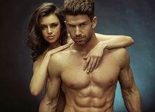 Muscular handsome man and his sensual girlfriend Stock Photo