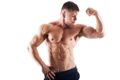 Muscular handsome man posing Stock Photography