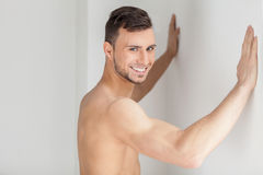 Muscular and handsome. Royalty Free Stock Photography