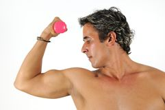 Muscular hispanic man Royalty Free Stock Photos