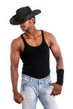A muscular Indian man Royalty Free Stock Images