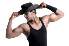 A muscular Indian man Stock Images