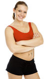 Muscular lady Stock Photography