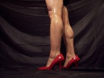 Muscular Legs And Calves In High Heels Royalty Free Stock Photo