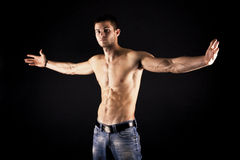 Muscular Male Royalty Free Stock Images