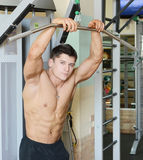 Muscular male Stock Images