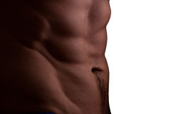 Muscular male abdomen Royalty Free Stock Photography