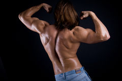 Muscular male back Stock Photography
