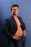 Muscular Male in Blazer Stock Photos