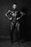 Muscular male Bodybuilder posing stock images