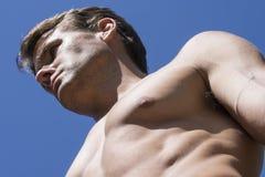 Muscular male hunk Stock Photo